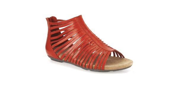 Dámske oranžové členkové sandálky Clarks