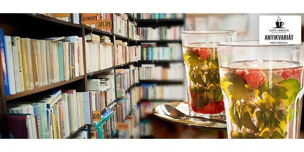 Mätovo-malinový čaj s knižkou podľa vlastného výberu