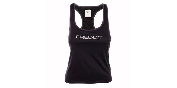 Dámske čierne tielko s boxerskými ramienkami Freddy