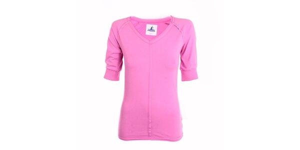 Dámske ružové tričko s 3/4 rukávmi Freddy
