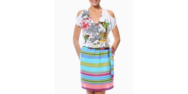 Dámske šaty s pruhovanou sukňou Smash