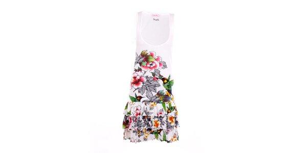 Dámske biele šaty s kolibríkmi Smash