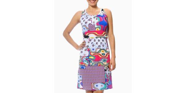 Dámske letné šaty s futuristickým vzorom Smash