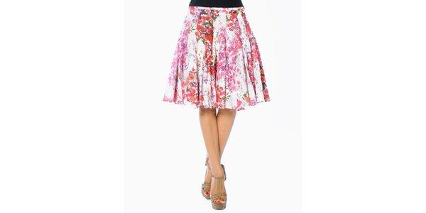 Dámska kvetovaná sukňa so skladmi Smash