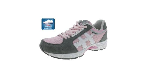 Dámske šedo-ružové športové tenisky Beppi