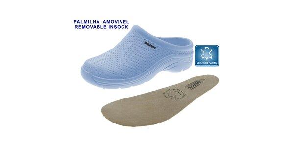Dámske svetlo modré topánky Beppi s vyberateľnou stielkou