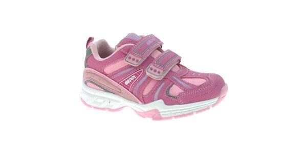 Detské ružové tenisky na suchý zips Beppi