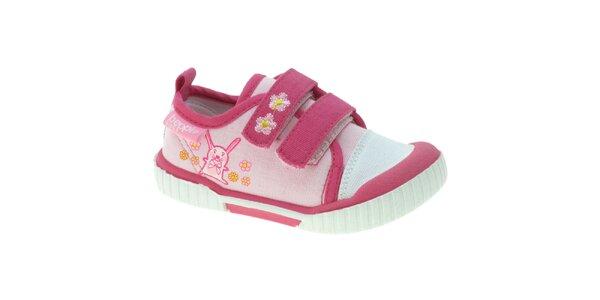 Dievčenské ružové látkové tenisky Beppi