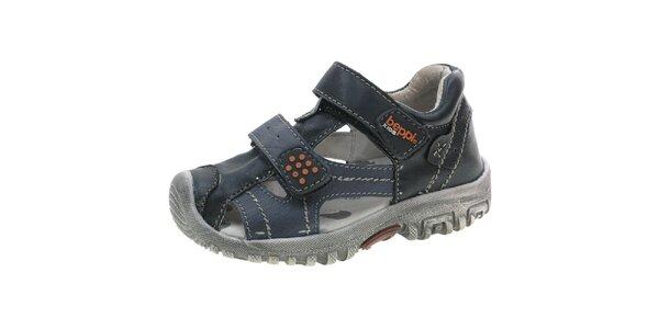 Detské modré sandálky Beppi