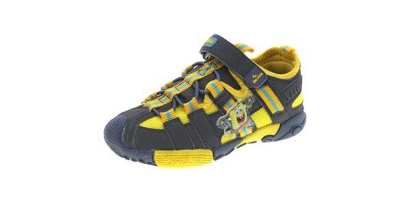 Detské čierno-žlté športové topánky Beppi
