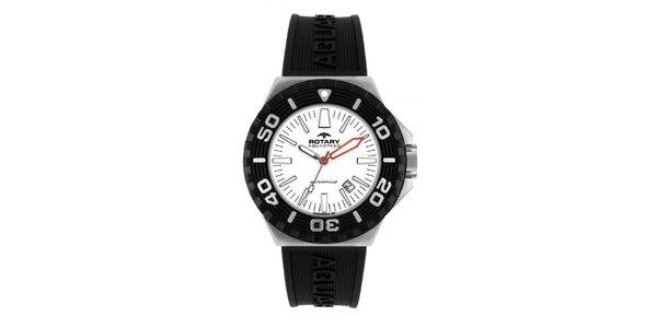 Pánske čierne analogové hodinky Rotary