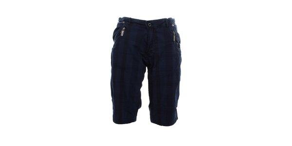 Pánske tmavo modré kraťasy Exe Jeans s vreckami na zips