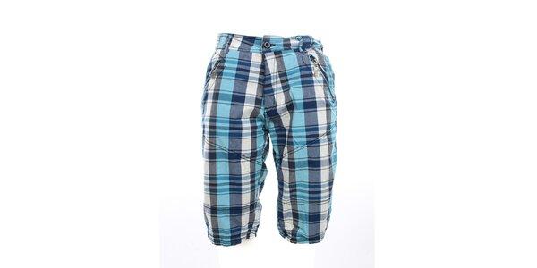 Pánske kockované kraťasy Exe Jeans s vreckami na zips
