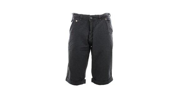 Pánske čierne kraťasy Exe Jeans