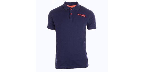 Pánske tmavo modré tričko s límčekom Exe Jeans