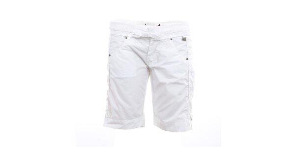 Dámske biele kraťasy s mašľou Exe Jeans