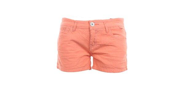 Dámske korálové bavlnené šortky Exe Jeans