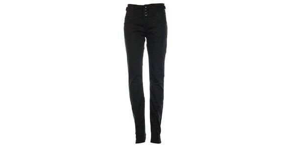 Dámske čierne džínsy s tromi gombíkmi Exe