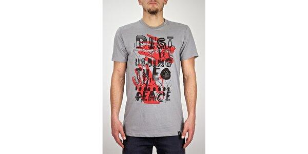Pánske šedé tričko s dvojfarebnou potlačou Judge&Jury