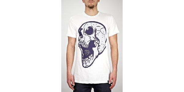 Pánske biele tričko s lebkou Judge&Jury