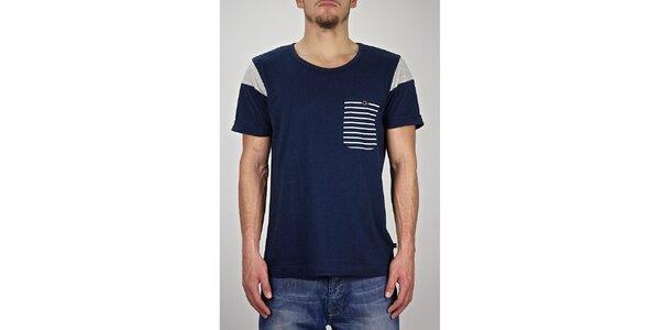 Pánske tmavo modré námornícke tričko Judge&Jury