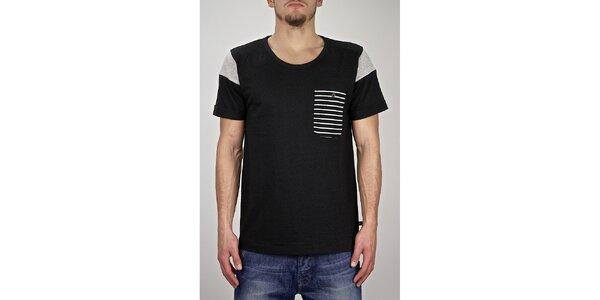 Pánske čierne námornícke tričko Judge&Jury