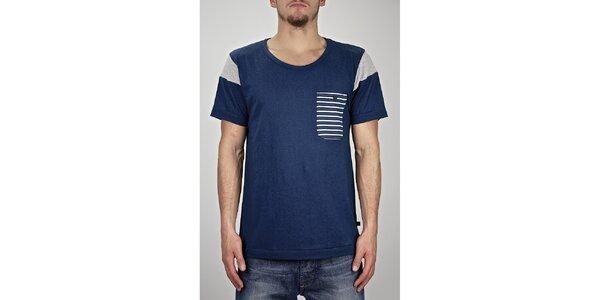 Pánske modré námornícke tričko Judge&Jury