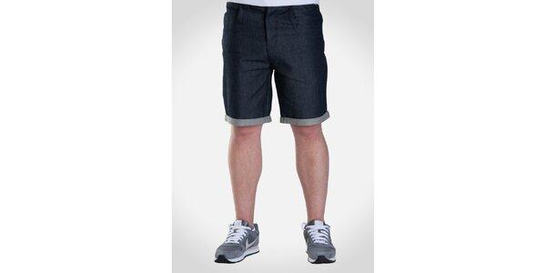 Pánske tmavé džínsové šortky Skank