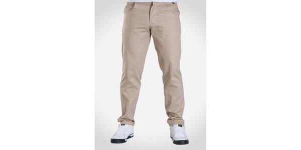 Pánske béžové nohavice Skank
