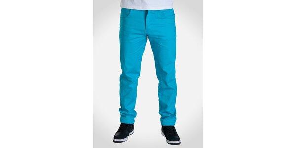 Pánske tyrkysovo modré nohavice Skank