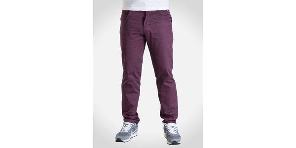 Pánske vínovo fialové nohavice Skank