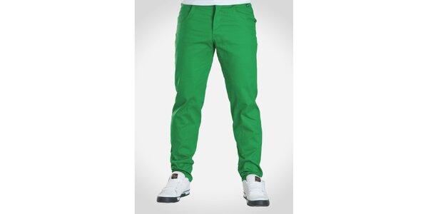 Pánske hráškovo zelené nohavice Skank