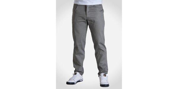 Pánske svetlo šedé nohavice Skank