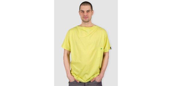 Pánske žlto-zelené tričko Skank