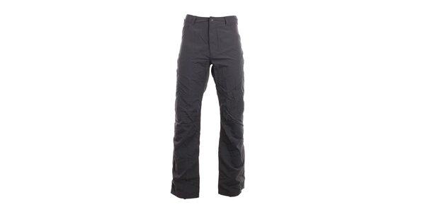 Pánske tmavo šedé voľno časové nohavice Hannah