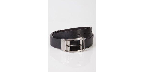 Pánsky čierny kožený opasok Calvin Klein
