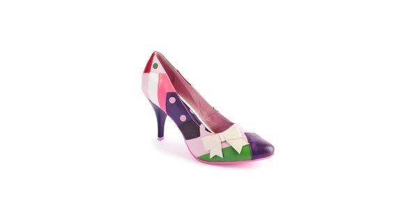 Dámske ružovo-fialové lodičky Lola Ramona s bodkami