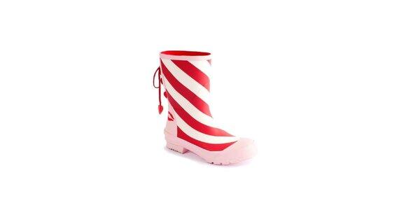 Dámske červeno-bielo-ružové čižmy Lola Ramona