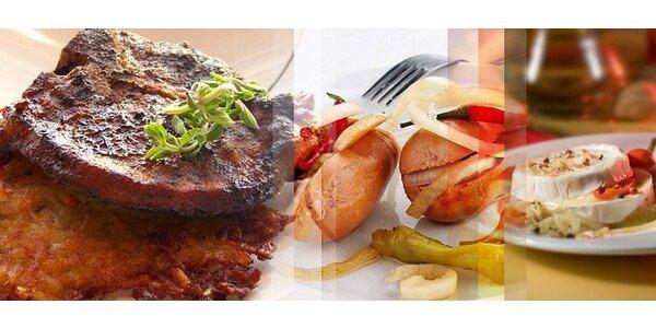 5,50 eur za hermelín alebo utopenec ako predjedlo a pandúrsky steak