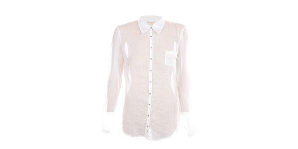 Dámska biela košeľa s dlhými rukávmi Nougat London