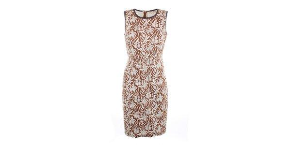 Dámske hnedé šaty s potlačou Nougat London