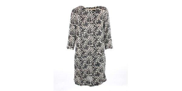 Dámske voľné šaty s čiernou potlačou Nougat London