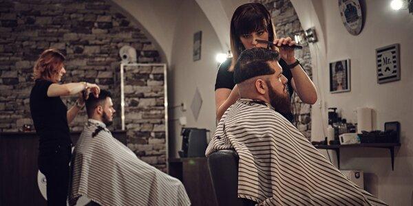 Moderný strih aj úprava brady v pánskom holičstve Barber factory