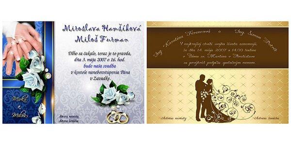 Kredit 15 € za 7,49 € na nákup na www.svadobne-oznamka.sk