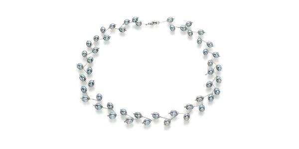 Náhrdelník Orchira so šedými perlami