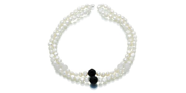 Biele perly Orchira s ónyxom
