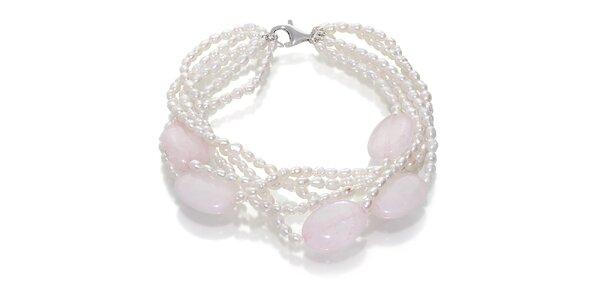 Dámsky perlový náramok Orchira s ruženínmi
