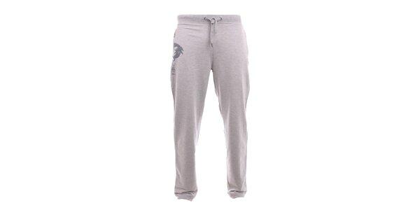 Pánske svetlo šedé tepláky Exe Jeans