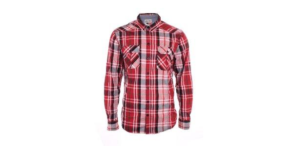 Pánska červeno kockovaná košeľa Exe Jeans