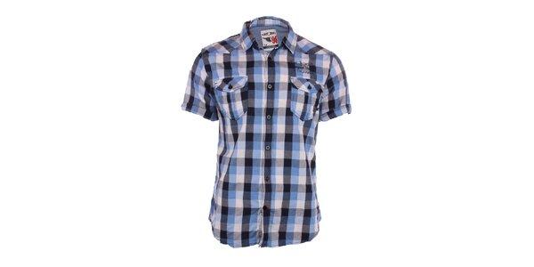 Pánska modro kockovaná košeľa Exe Jeans